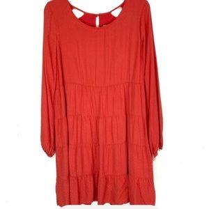 🆕Skies Are Blue Ruffle Tier Dress in Spicy Orange